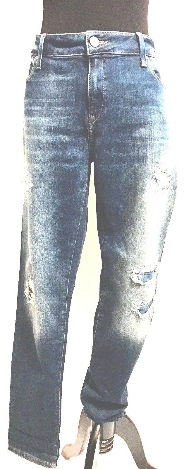 Mavi Womens Ada Sexy Boyfriend Ripped and Patched Jeans Size 31