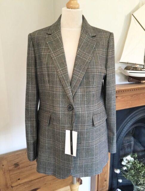 Zara Light Khaki Green Blazer Timeless Collection Size S UK 8