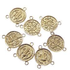 Catholic Wholesale St. Benedict centers junction rosary part silver 2cm x10