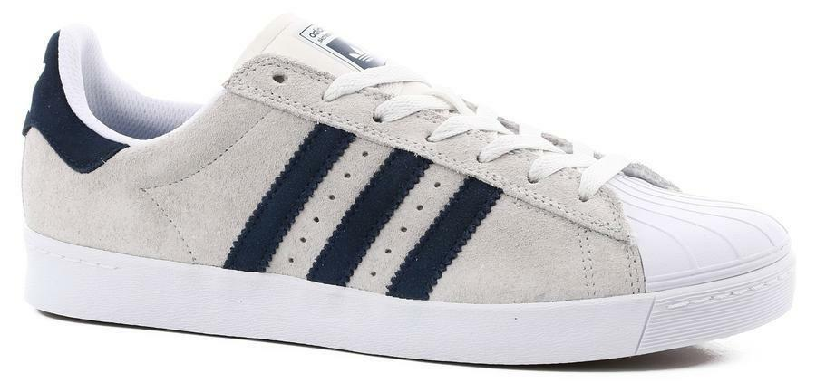 Adidas Superstar Vulc ADV Skateboard Shoes (White/Navy)