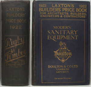 1922-LAXTON-039-S-BUILDERS-PRICE-BOOK-ARCHITECTS-ENGINEERS-CONTRACTORS-200-ADVERTS