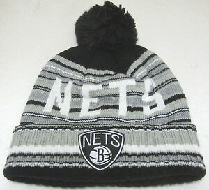 official photos eaf67 8ff9f Image is loading NBA-Brooklyn-Nets-Multi-Color-OSFM-Cuffed-Knit-