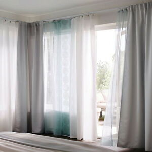 Ikea Teresia Sheer Curtains 1 Pair White Or Turquoise For