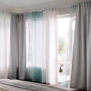 image is loading ikea teresia sheer curtains 1 pair white or - Ikea Curtains