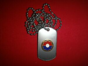 US-Army-9th-INFANTRY-DIVISION-Stainless-Steel-Dog-Tag-Ball-Chain