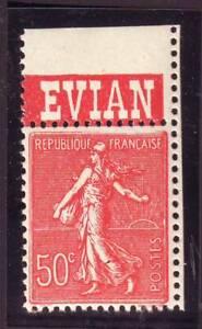 TIMBRE-PUB-EVIAN-50-c-semeuse-N-199-carnet-TTB