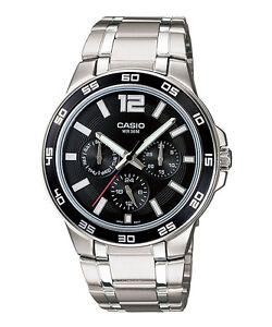 CASIO-MTP-1300D-1AV-Men-Watch-Standard-Analog-Multi-hand-Bracelet-Black
