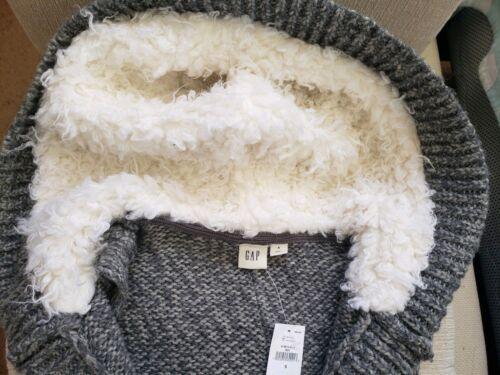 Grå Blend Women's Front Strik Hooded uld Sz Lang Gap Sherpa Open S Nwt Vest 47vqTFdxFn