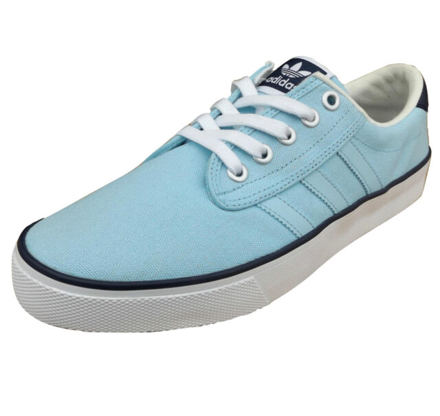 adidas Originals Men's Kiel Canvas Trainers Sky Blue UK 11.5 & UK 12