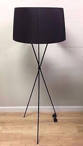 Image Is Loading Retro Style Black Shade Floor Lamp Hg Fl061