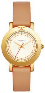 6e5b99f992da Tory Burch TBW6000 Ellsworth Ivory Dial Brown Leather Strap Women s ...