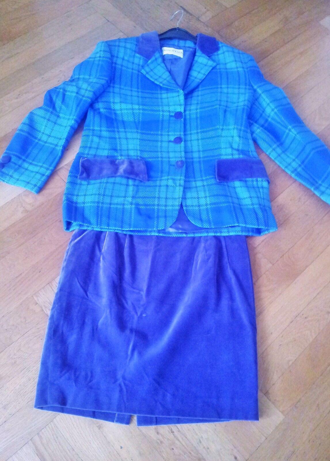 Principessa Kostüm lila-blau Gr. 40 42 - neuwertig