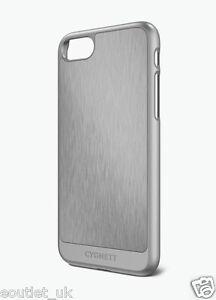 Dettagli su Cygnett UrbanShield Custodia per iPhone 8/7 PLUS ALLUMINIO METALLO argento COVER NUOVO- mostra il titolo originale