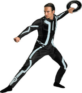 Image is loading Morris-Costumes-Men-039-s-Tv-&-Movie-  sc 1 st  eBay & Morris Costumes Menu0027s Tv u0026 Movie Characters Tron Legacy Deluxe 42-46 ...
