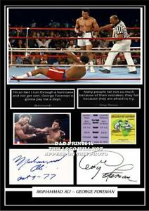 130-muhammad-ali-amp-george-foreman-boxing-signed-a4-photo-mounted-framed-pp