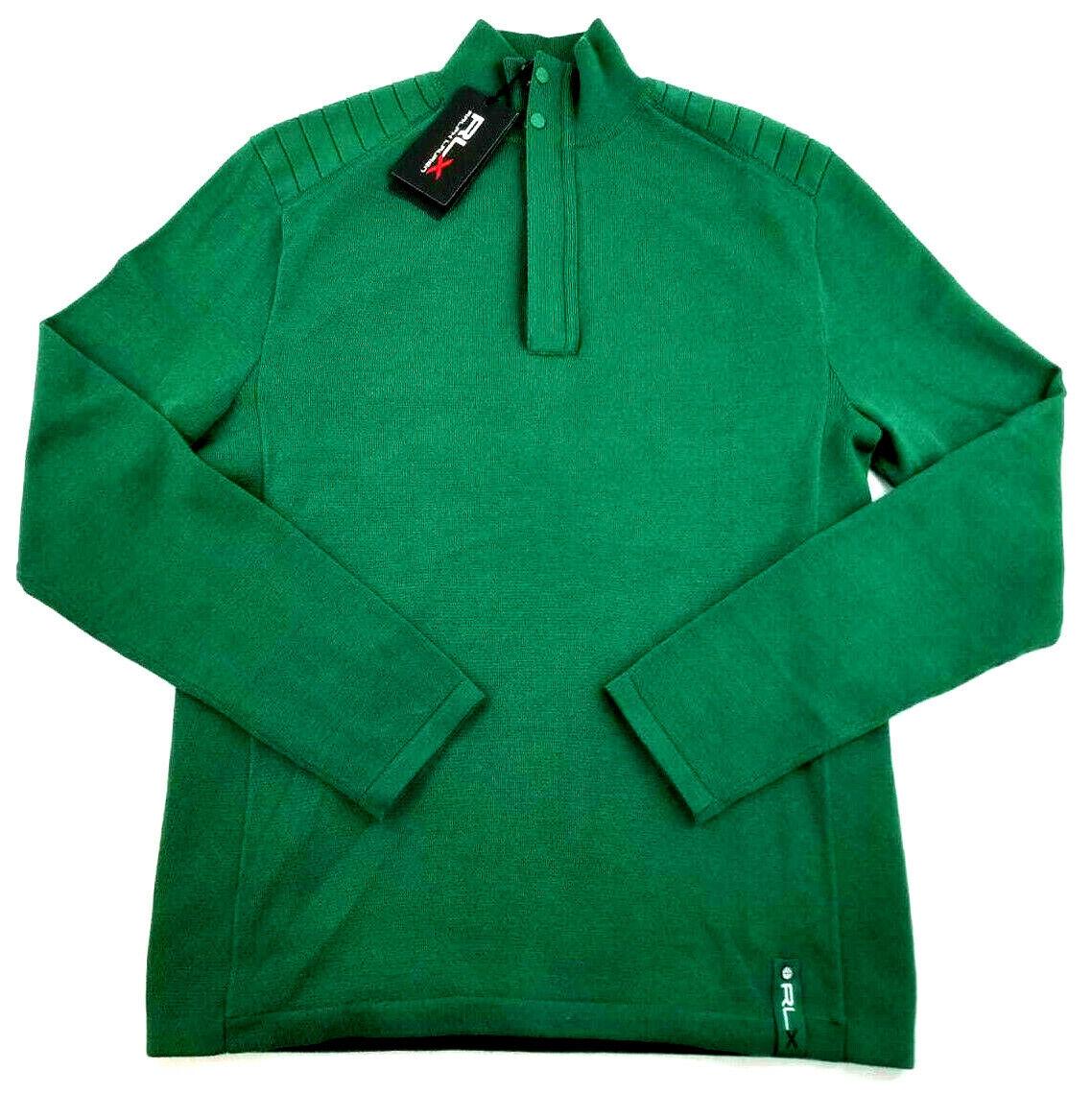 Nuovo Ralph Lauren Rlx Uomo Giacca Top Maglione 785685985001 Sp18 verde S