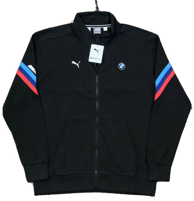 NWT! Puma BMW M Motorsport Life Zip Athletic Sweat Jacket  Men 2XL  Black  $110