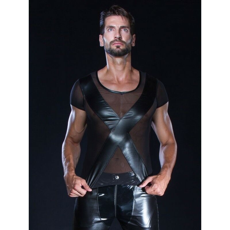 Man shirt sexy fetish micro résille model Matt of Patrice Catanzaro