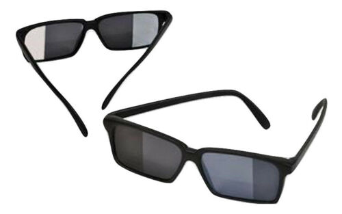 Spy Sunglasses Glasses See Look Behind You Rear View Mirror Toy 007 Secret Gag