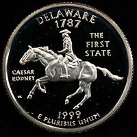 1999-S State Quarter Delaware Gem Proof DCAM CN-Clad Coin Uncirculated