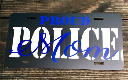 Custom Police Mom License Plate Car Tag Personalized Back The Blue Car Tag New