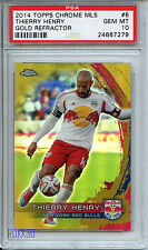 2014 TOPPS CHROME MLS GOLD 33/50 THIERRY HENRY PSA 10 New York Red Bulls *279