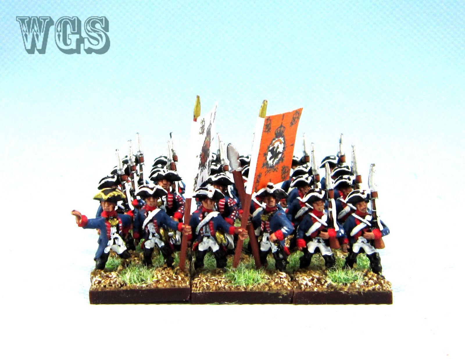 15mm Syw Seven Years War un Pintado prusiano Mosquetero btln Pa14