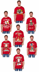 Adults-Ladies-Mens-Funny-Novelty-Christmas-T-Shirt-Santa-Elf-Pug-etc