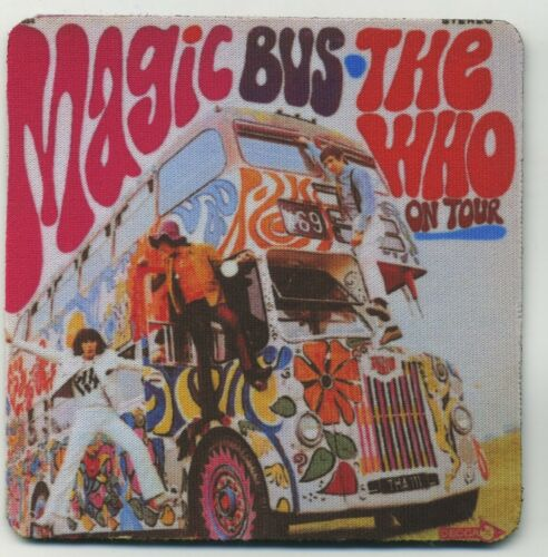 The Who on Tour Classic Rock Record Album Cover  COASTER Magic Bus