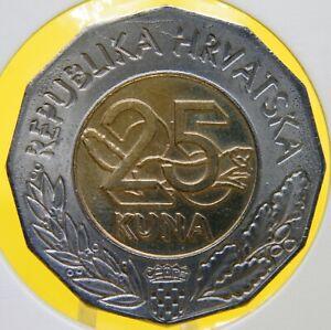 1997-Croatia-25-kuna-The-First-Croatian-Esperanto-Congress-Bi-metallic