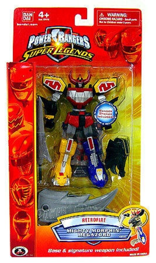 Mighty Morphin Power Rangers Super  Legends 6  Megazord W Stand nouveau Retofire 2009  wholesape pas cher