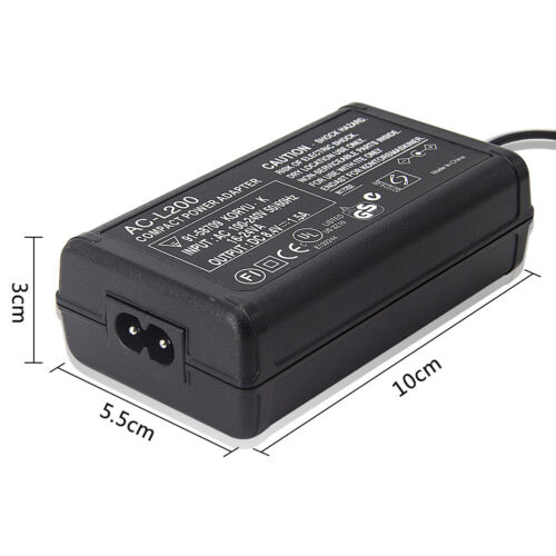 Cable cargador Adaptador de Alimentación de CA para Videocámara SONY Handycam DCR-SX63E HDR-XR150