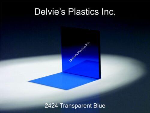 "5 Sheets 1//4/""  2424 Transparent Blue Cell Cast Acrylic Sheet  12/"" x 24/"""