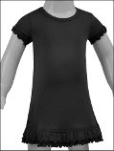 100/% Cotton Infant Toddler Girls Blanks Short Ruffle Sleeve Dress 6M to 6X