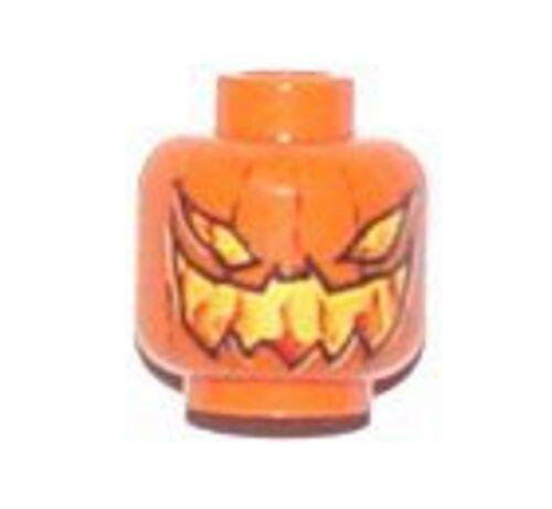 LEGO 7786 BATMAN Orange Minifig Head w// Pumpkin Evil Jack O/' Lantern