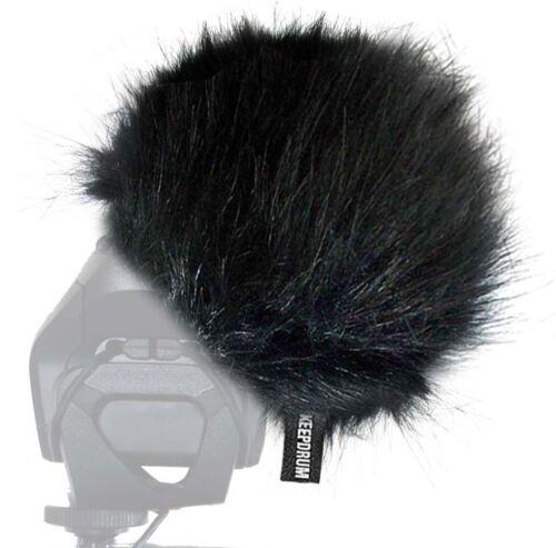 KEEPDRUM WS-BK fell-protección contra el viento para Digital-grabadora de vídeo micrófono móvil-grabador