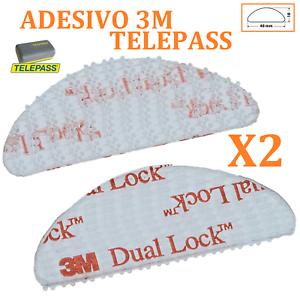2-Pcs-Biadhesive-Adhesive-3M-Dual-Lock-Stickers-Windscreen-Car-for-Telepass