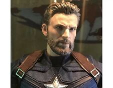 1//6 Chris Evan Captain America Head Sculpt 9.0 For PHICEN Hot Toys Figure ❶USA❶