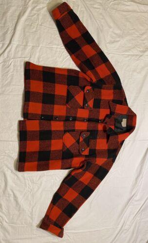 Vintage Red Flannel Jacket Sears And Roebucks 100%