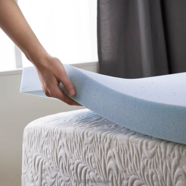 Lauraland Mattress Topper Gel Infused Memory Foam With