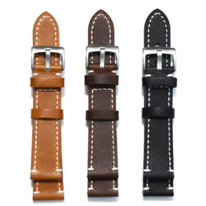 New-Watch-Bands-Cow-Leather-Wristwatch-Strap-Replacement-18-19-20-21-22-23-24mm