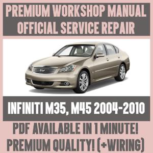 workshop manual service repair guide for infiniti m35 m45 2004 rh ebay co uk 2010 infiniti m35 manual infiniti m35 service manual