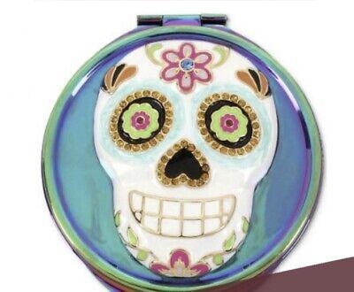 35 Betsey Johnson Multi Stone Sugar, Sugar Skull Compact Mirror