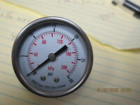 "2"" Dial 30 Psi Stainless Steel Dual-scale Pressure Gauge ¼"" Npt Back Mount"