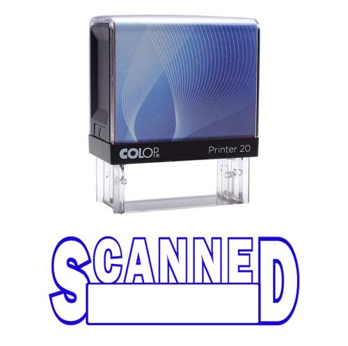 SCANNED Self Inking Rubber Stamp Custom Colop Office P20 Mini Stamper|COLP-183