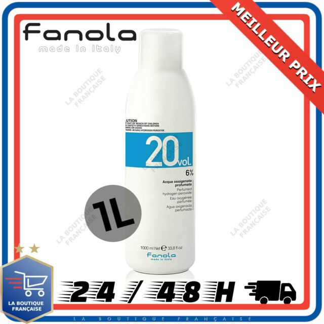 Fanola Eau Oxygénée Parfumée 6% 20 Volumes 1L Coloration Décoloration Coiffure