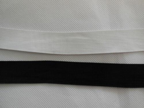 0.5cm 2cm 2.5cm 3cm 4cm Flat Elastic waistband black or white high quality Per M