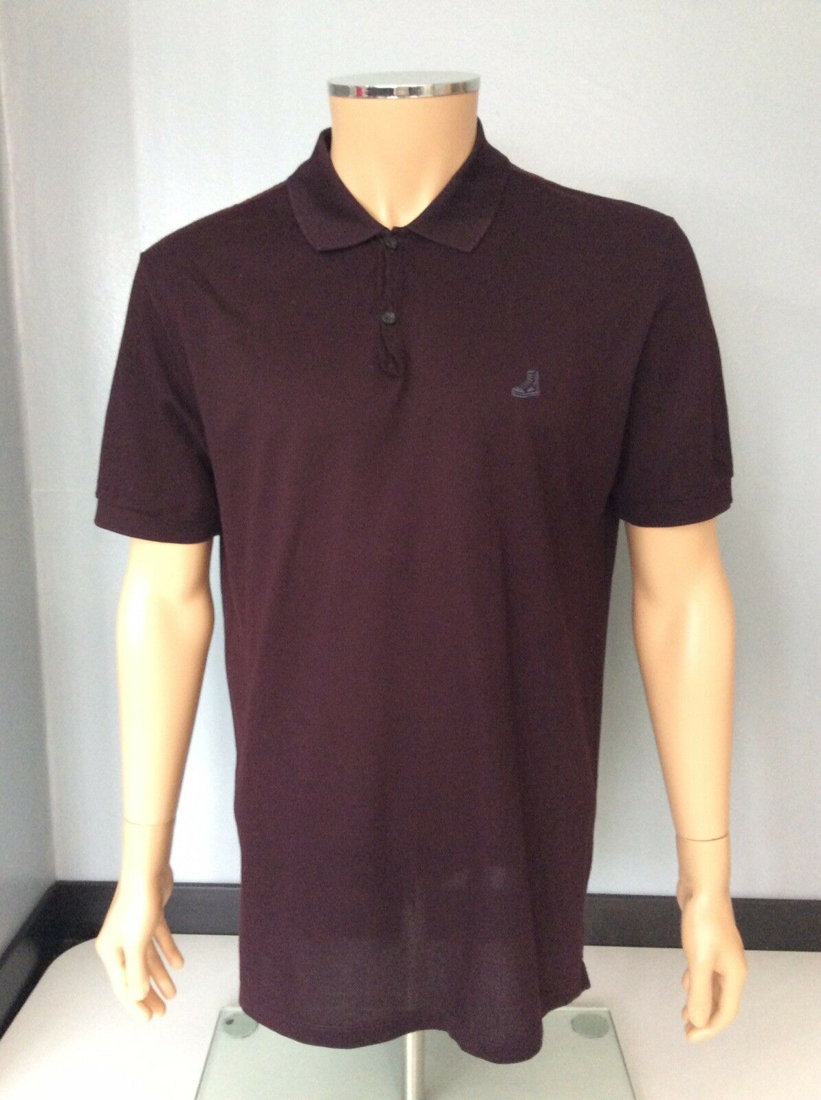 Lanvin Mens Polo T Shirt, Size Xxl, Burgundy, Red, Immaculate