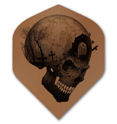 Dart Flights Alchemy Headstone Skull