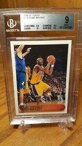 1996-97-Topps-138-Kobe-Bryant-Los-Angeles-Lakers-RC-Rookie-HOF-BGS-9-Mint-w-10